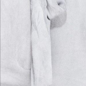 Pants - Grey Suedette Paper Bag Trousers